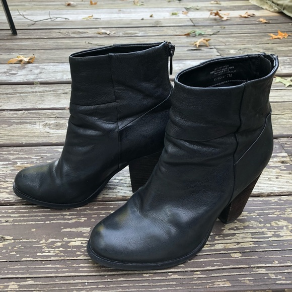 Leather High Ankle Boots   Poshmark